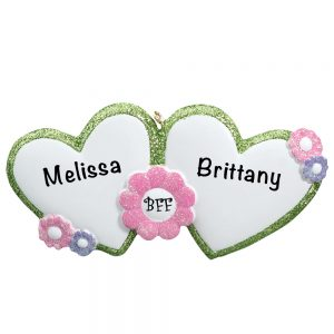 BFF Personalized Christmas Ornament