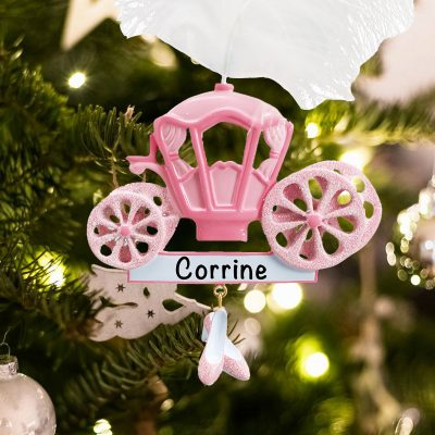 Personalized Princess Carriage Christmas Ornament
