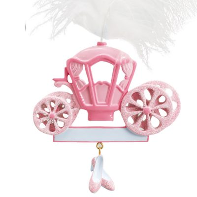 Princess Carriage Personalized Christmas Ornament - Blank