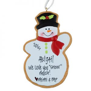 Snowman Cookie Christmas Ornament