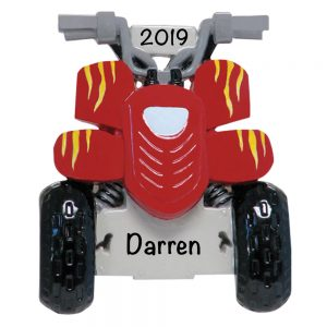 ATV Quad Personalized Christmas Ornament