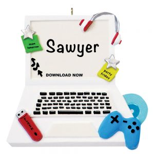 Video Games Personalized Christmas Ornament