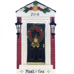Red Brick Door Personalized Ornament