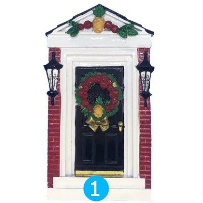 Red Brick Door Personalized Ornament