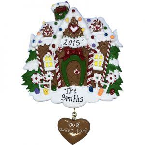 Gingerbread House Personalized Ornament