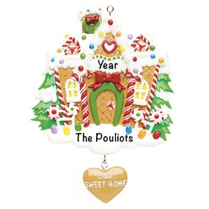 Gingerbread House Personalized Christmas Ornament