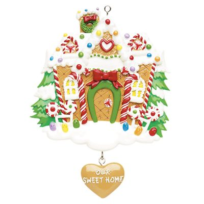 Gingerbread House Personalized Christmas Ornament - Blank
