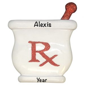 Pharmacist RX Personalized Christmas Ornament