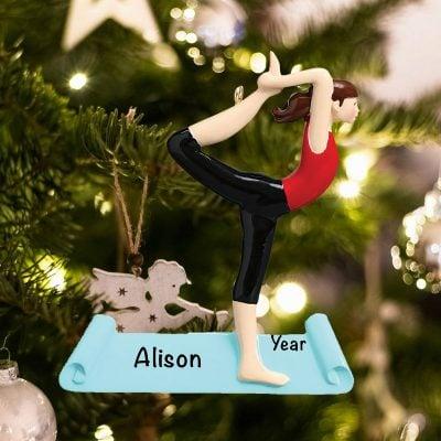 Personalized Yoga Christmas Ornament