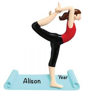 Yoga Personalized Christmas Ornament