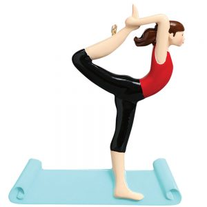 Yoga Personalized Christmas Ornament - Blank