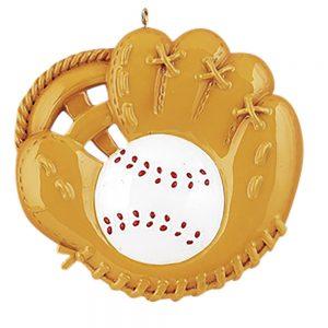 Baseball Catch Personalized Christmas Ornament - Blank