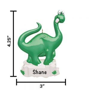 Dinosaur Personalized Christmas Ornament
