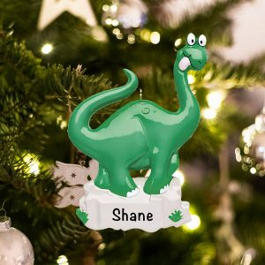 Personalized Dinosaur Christmas Ornament