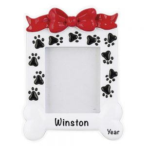 Pet Photo Frame Personalized Christmas Ornament