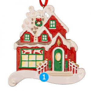 Red House Personalized Ornament