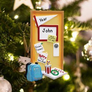 Personalized Dorm Room Christmas Ornament