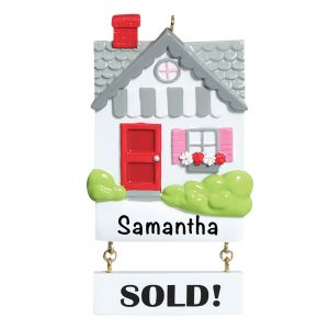 Real Estate Sold House Personalized Christmas Ornament