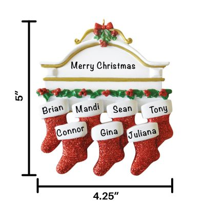 Red Stocking Personalized Christmas Ornament