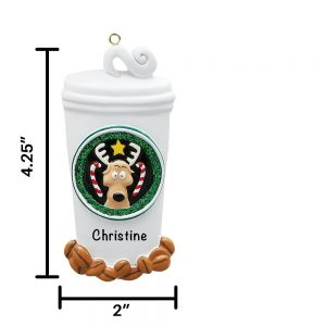 Coffee Lover Personalized Christmas Ornament