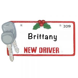 New Driver License Plate - Personalized Christmas Ornament