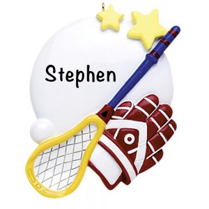 Lacrosse Equipment Personalized Christmas Ornament