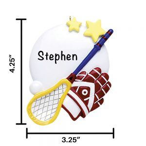 Lacrosse Personalized Christmas Ornament
