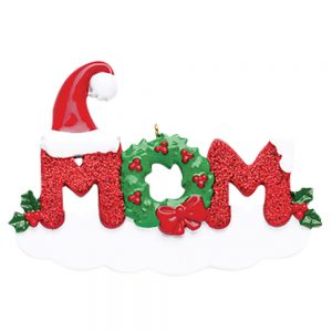 Mom Personalized Christmas Ornament - Blank