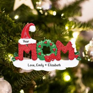Personalized Mom Christmas Ornament