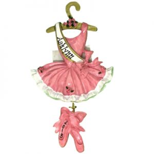 Ballerina Dress Personalized Ornament