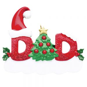 Dad Personalized Christmas Ornament - Blank