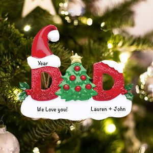 Personalized Dad Christmas Ornament