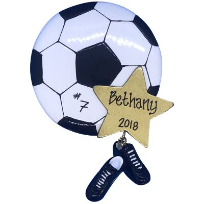 Soccer Star Personalized Ornament