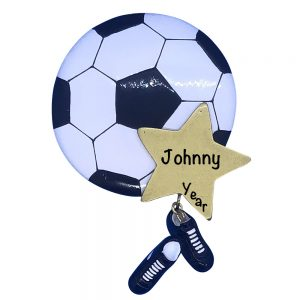Soccer Star Personalized Christmas Ornament