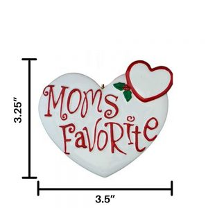 Moms Favorite Personalized Christmas Ornament