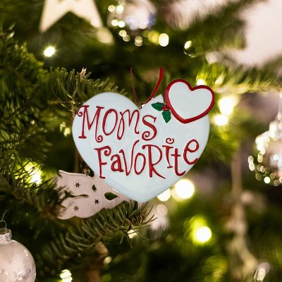 Personalized Moms Favorite Christmas Ornament