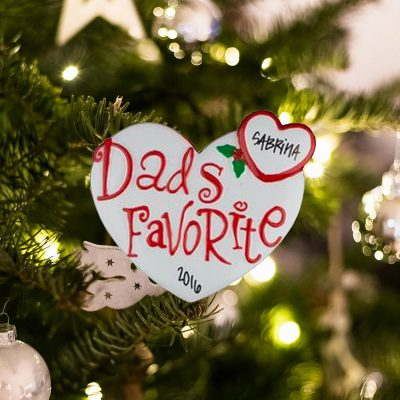 Personalized Dads Favorite Christmas Ornament