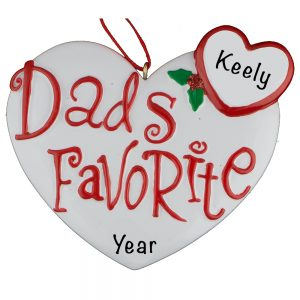 353 Dad's Favorite Personalized Christmas Ornament