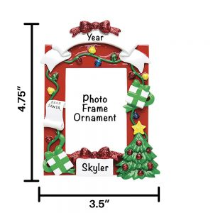 Red Frame Personalized Christmas Ornament