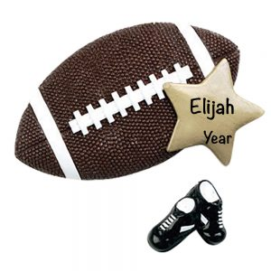 Football Star Personalized Christmas Ornament