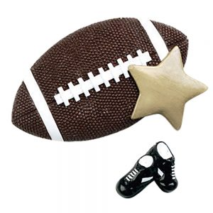 Football Star Personalized Christmas Ornament - Blank