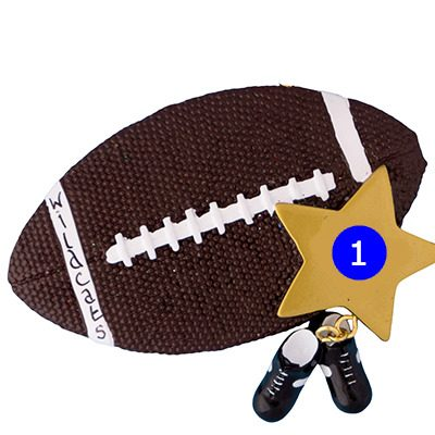 Football Star Personalized Ornament