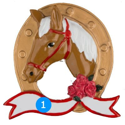 Horse Personalized Christmas Ornament