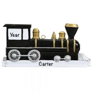 Locomotive Train Personalized Christmas Ornament