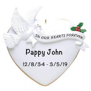 Memorial Personalized Christmas Ornament