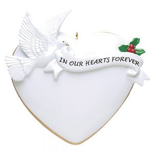 Memorial Personalized Christmas Ornament - Blank