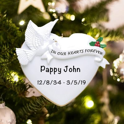 Personalized Memorial In Our Hearts Christmas Ornament