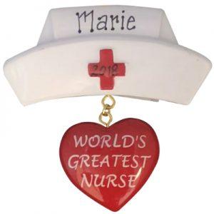 World's Greatest Nurse Personalized Ornament