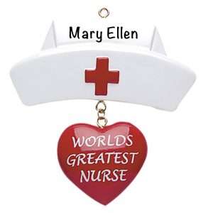Worlds Greatest Nurse Personalized Christmas Ornament