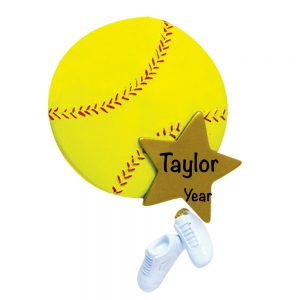 Softball Star Personalized Christmas Ornament